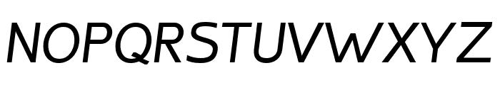 Inprimis-MediumItalic Font UPPERCASE
