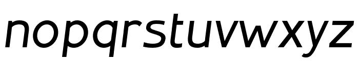 Inprimis-MediumItalic Font LOWERCASE