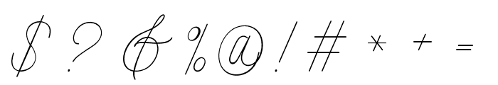 Intelligent Line Font OTHER CHARS