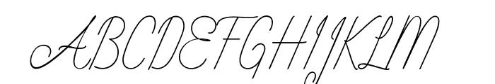 Intelligent Line Font UPPERCASE