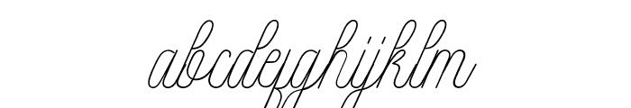 Intelligent Line Font LOWERCASE
