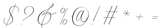 Intelligent Font OTHER CHARS