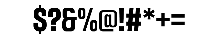 Intensa-BoldCondensed Font OTHER CHARS