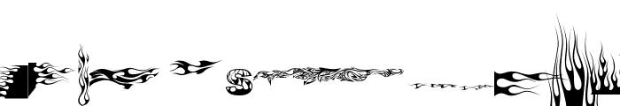 J-Flames Font LOWERCASE