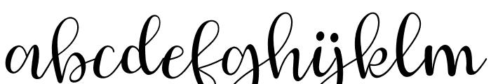 JUDESSANT-Regular Font LOWERCASE