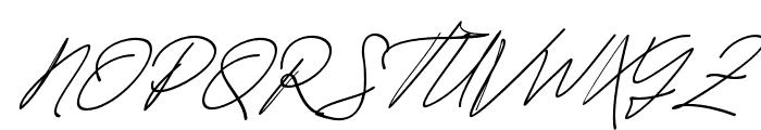 JacksonScript-Slant Font UPPERCASE