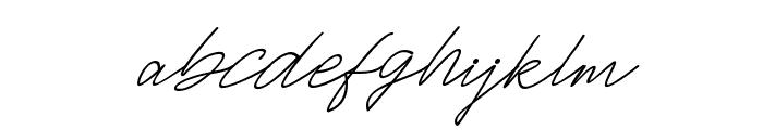 JacksonScript-Slant Font LOWERCASE
