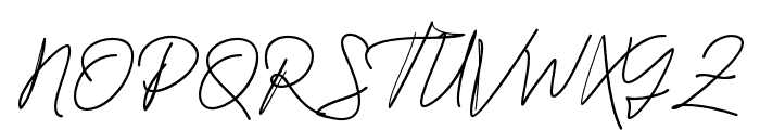 JacksonScript Font UPPERCASE