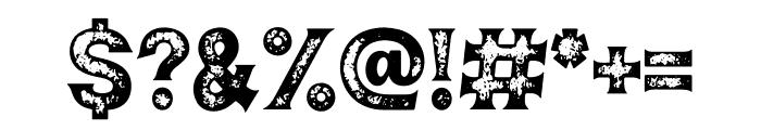 Jakobenz Rough Font OTHER CHARS