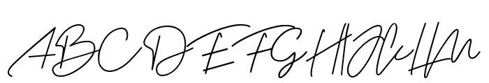 Jalliestha Font UPPERCASE