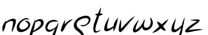Jasper Kusack Italic Font LOWERCASE