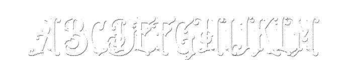 Java Heritages Drop Line Font UPPERCASE