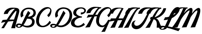 Jazzbury-Regular Font UPPERCASE