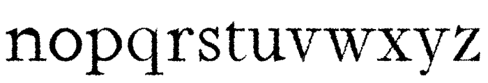 Jerricca Distorted Font LOWERCASE