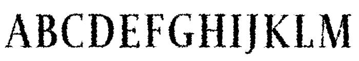 Jerrick Bold Distorted Font UPPERCASE