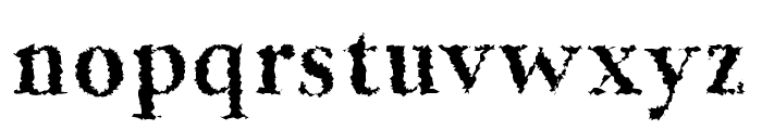 Jerrick Bold Distorted Font LOWERCASE