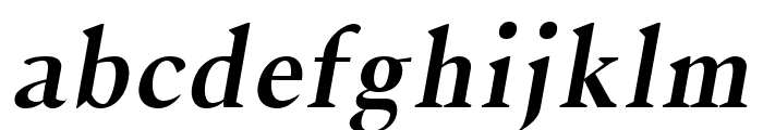Jerrick Bold Italic Font LOWERCASE