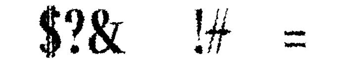 Jerrick-BoldDistorted Font OTHER CHARS