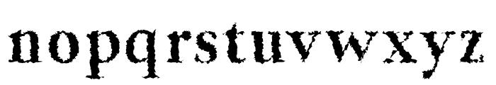Jerrick-BoldDistorted Font LOWERCASE
