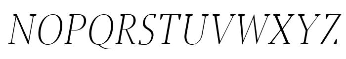 Jerrick Light Italic Font UPPERCASE