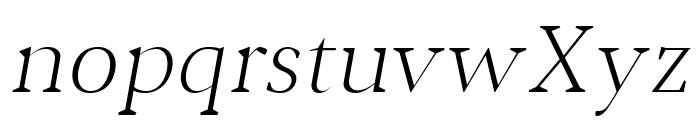 Jerrick Light Italic Font LOWERCASE