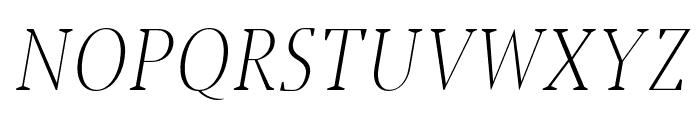 Jerrick-LightItalic Font UPPERCASE