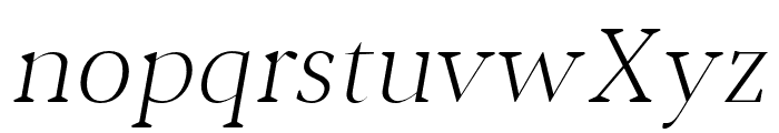 Jerrick-LightItalic Font LOWERCASE
