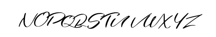 Jordana Regular Font UPPERCASE