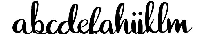 Juliet Regular Font LOWERCASE