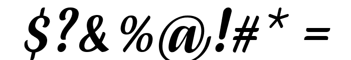 July Seventh Italic Font OTHER CHARS