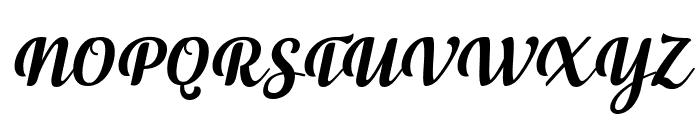 July Seventh Italic Font UPPERCASE