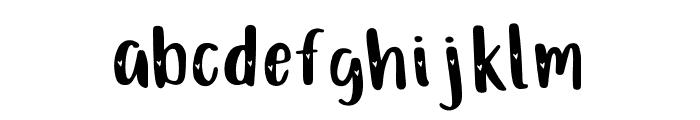 Just Darling Hearts Regular Font LOWERCASE
