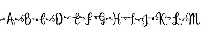 Just Swirls Font UPPERCASE