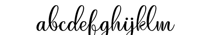 Just Swirls Font LOWERCASE