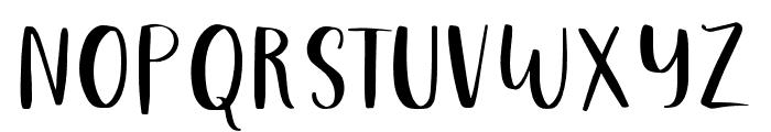 Just Tuesday Regular Font UPPERCASE