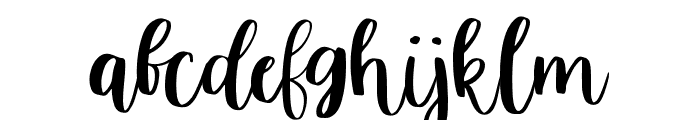 Just Tuesday Regular Font LOWERCASE