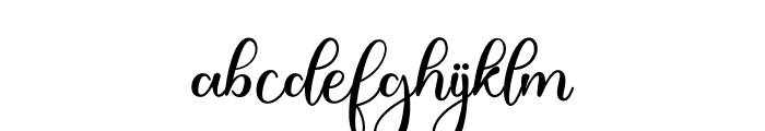 JustinHailey Font LOWERCASE