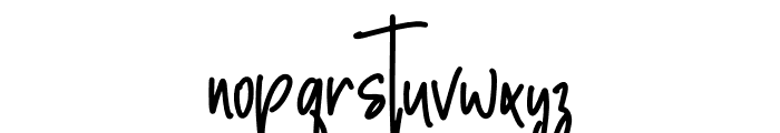 Justtony Font LOWERCASE