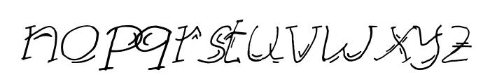 KAZE Italic Font LOWERCASE