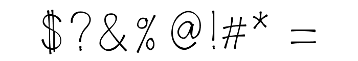 KLAaron Font OTHER CHARS