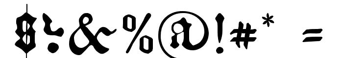 Kachelofen Light Font OTHER CHARS