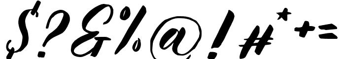 KalimatScript Font OTHER CHARS