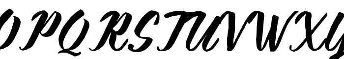 KalimatScript Font UPPERCASE