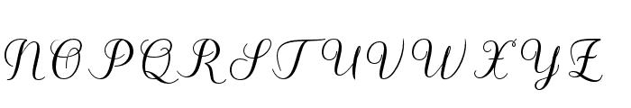 Kalisha Script Bold Font UPPERCASE