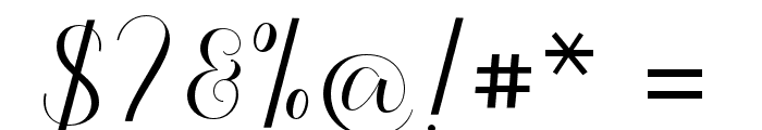 Kalisha Script Font OTHER CHARS