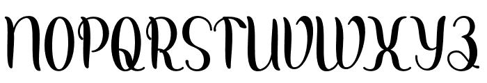 Kalishascript Font UPPERCASE