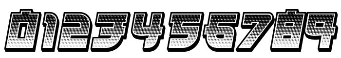 Kamikaze 3D Gradient Italic Font OTHER CHARS