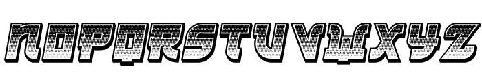 Kamikaze 3D Gradient Italic Font UPPERCASE