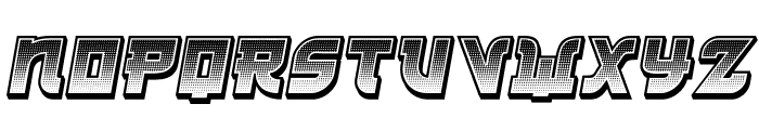 Kamikaze 3D Gradient Italic Font LOWERCASE