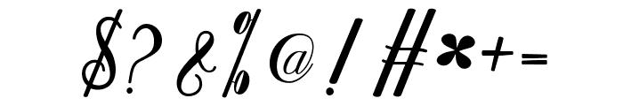 Kamikaze Font OTHER CHARS